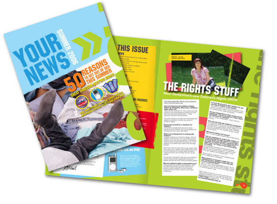magazine and newsletter layout and design