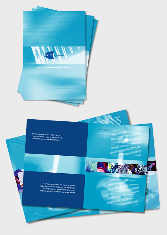 Medical brochure design, advertising brochure, medical device promotion