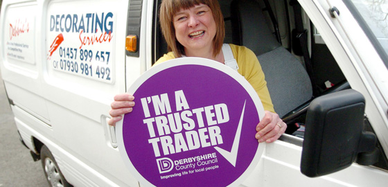 Derbyshire Trusted Trader, sign design, logo design, branding design