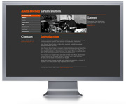 Drum tuition website design, web design chesterfield, site design derbyshire.